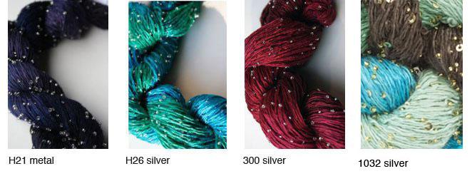 beaded silk