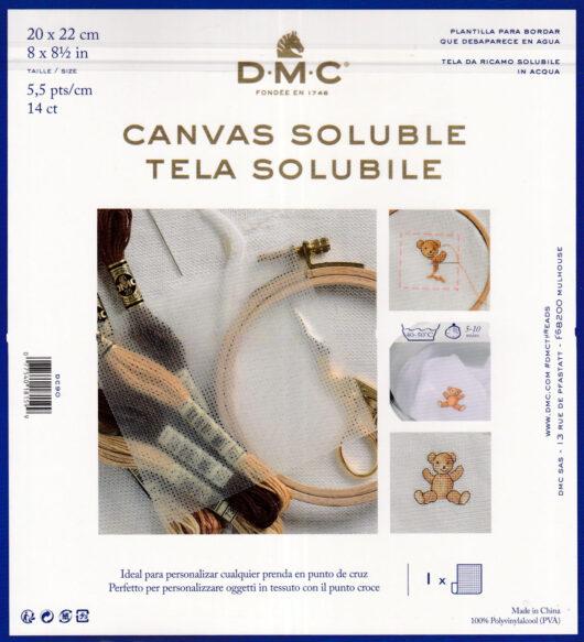 DMC in water oplosbaar canvas
