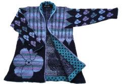 ikat coat christel seyfarth blue
