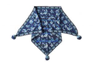 flora shawl blue