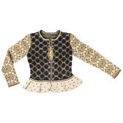 Christel Seyfarth bridal jacket cream black gold