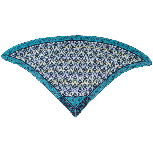 Christel Seyfarth Roses and Thornes shawl blue