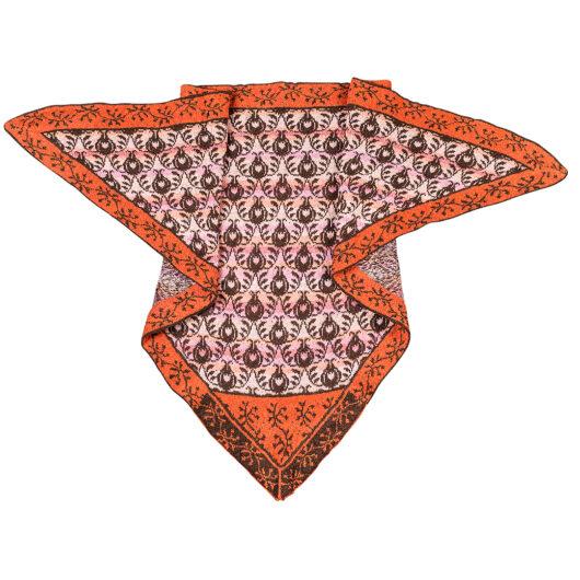 thornes and roses shawl christel seyfarth Orange/brown