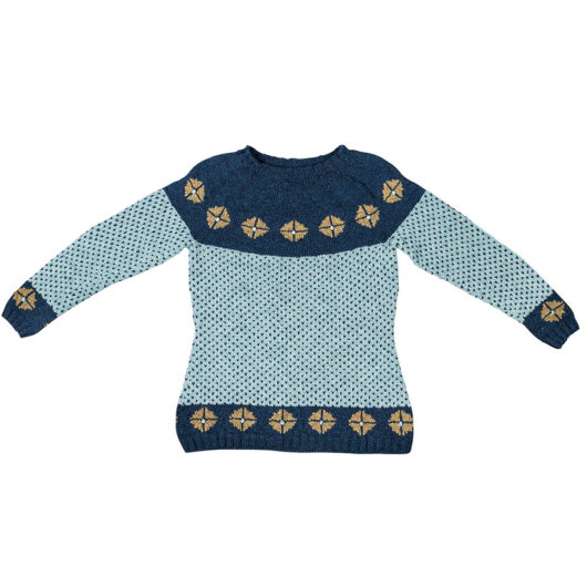 christel seyfarth rigger sweater blue