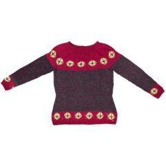 rigger sweater bordeaux grey christel seyfarth