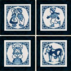 Delft Tiles - Delfts Blauwe tegels cross stitch