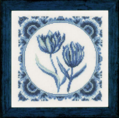 Delft Tulips - Delftse tulpen cross stitch