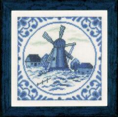 Delft Windmill Delftse molen cross stitch