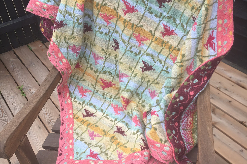 Christel Seyfarth Fano Beach Birds shawl