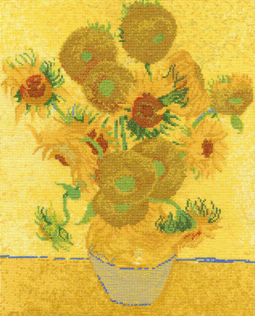 DMC The National Gallery - Van Gogh SunflowersCross Stitch Kit