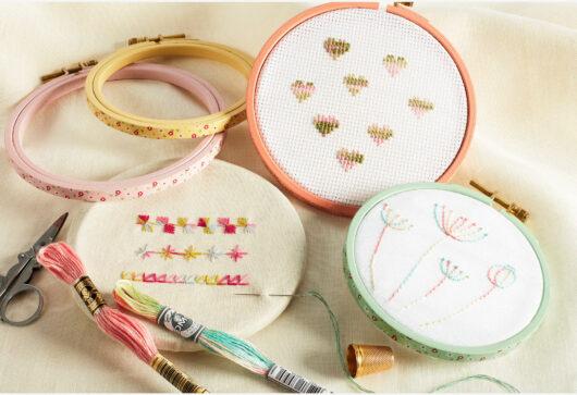 dmc borduurring de afstap embroidery hoop