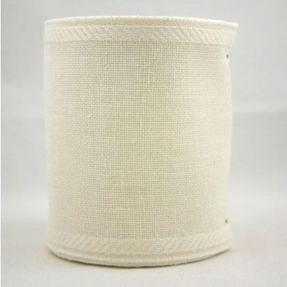 Linnen band 10cm - gebroken wit
