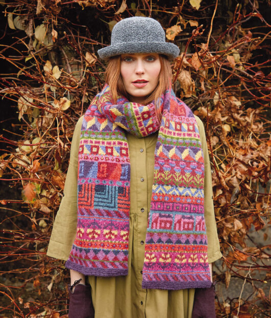Kaffe Fassett's Sampler shawl uit Rowan Winter Vintage