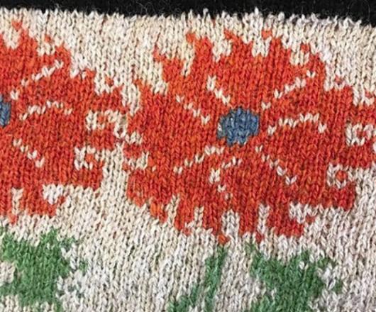 christel-seyfarth Urban Flower Garden Shawl yarn kit