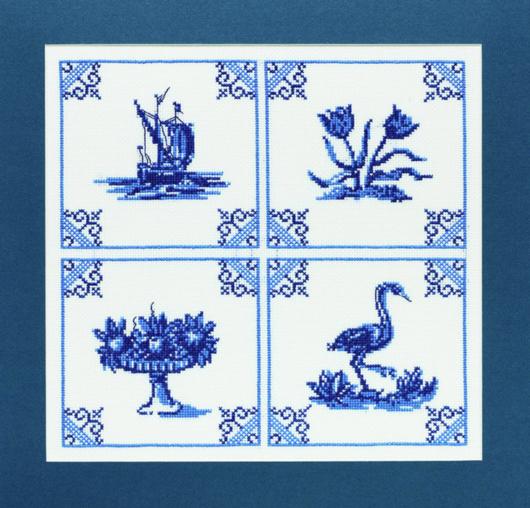 Delft blue classic tiles