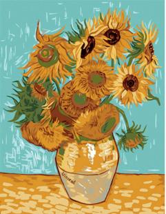 nchor Canvas: Royal Paris: Sunflowers by Van Gogh, Multi, 48 x 62cm